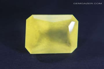 Calcite, yellow faceted, China. 7.81 carats.