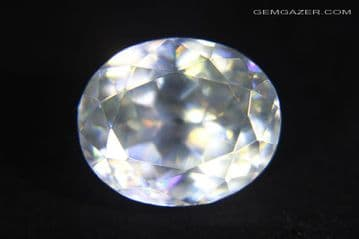 Cerussite, colourless faceted, Namibia. 10.15 carats (See Video).