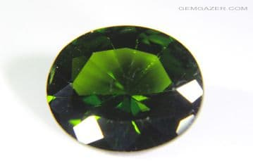 Chrome Diopside, faceted, Russia. 3.33 carats.