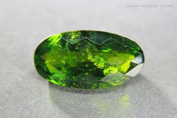 Chrome Diopside, faceted, Russia. 5.21 carats.  (See Video)
