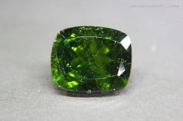 Chrome Diopside, faceted, Russia. 5.82 carats.