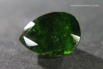 Chrome Diopside, faceted, Russia.  7.85 carats.