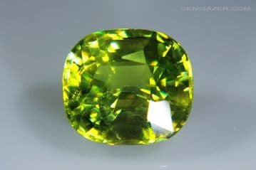 Chrome Sphene (Titanite), faceted, Namibia. 2.43 carats. (See Video)