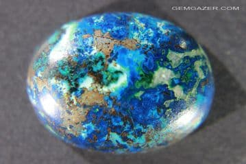 Chrysocolla and Azurite cabochon, Israel.  21.78 carats.  ** SOLD **