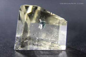 Citrine Quartz with blue Apatite inclusions, faceted, Brazil.  53.88 carats. ** SOLD **