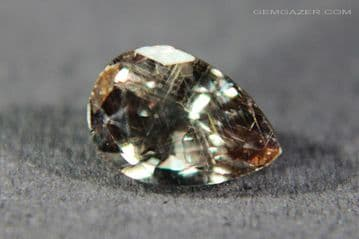 Colour change Garnet, brownish-green to red, faceted, Tanzania. 1.15 carats.
