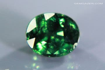 Colour-change Garnet, green to purple, faceted, Tanzania. 1.23 carats.