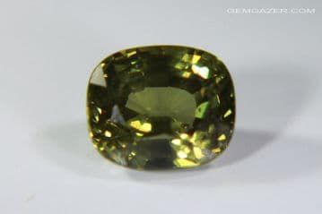 Colour-change Garnet, green to red, faceted, Kenya. 1.48 carats.