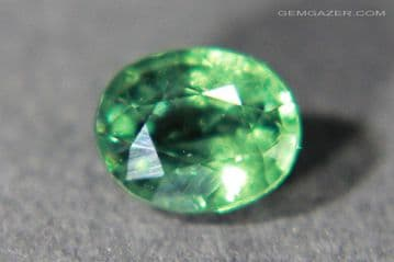 Colour-change Garnet, green to red, faceted, Madagascar. 0.84 carat. (See Video)