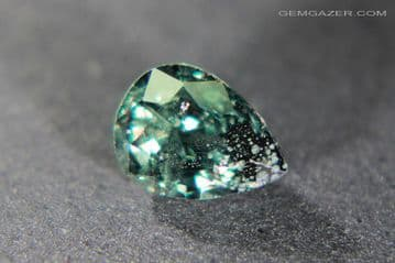 Colour-change Garnet, green to red, faceted, Tanzania. 1.10 carats.