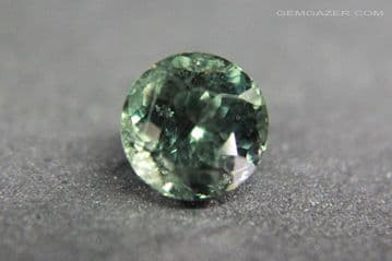 Colour change Garnet, green to red, faceted, Tanzania. 1.13 carats.