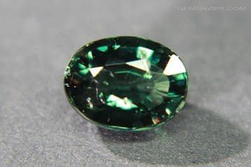 Colour change Garnet, green to red, faceted, Tanzania. 1.22 carats.