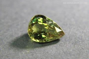 Colour change Garnet, olive-green to red, faceted, Tanzania. 1.13 carats.
