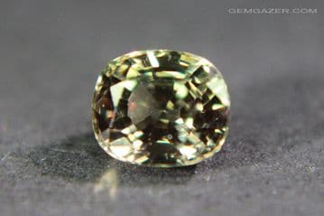 Colour change Garnet, orange-green to red, faceted, Tanzania. 1.02 carats. (See Video)