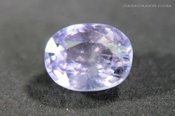 Colour-change Sapphire, lilac to pinkish-violet, faceted, Tanzania. 1.36  carats.