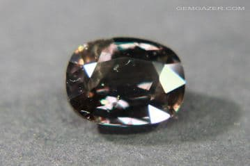 Colour-change Sapphire, pinkish-brown to red, faceted, Tanzania. 1.45 carats.