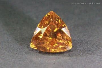 Colour-shift Garnet, orange to yellow-red,faceted, Madagascar. 2.77 carats. (see Video).