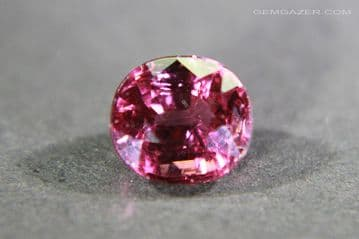 Colour-shift Garnet, purple to red, faceted, Tanzania. 1.41  carats.