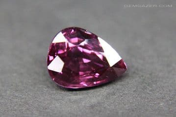 Colour-shift Malaia Garnet, pinkish-red to purple-red, faceted, Tanzania. 1.69 carats.