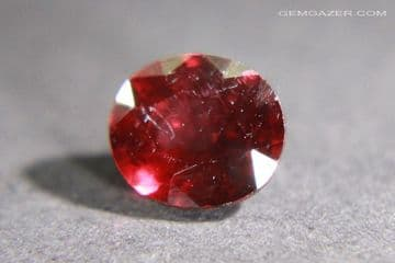 Colour-shift Malaia Garnet, pinkish-red to purple-red, faceted, Tanzania. 1.89 carats