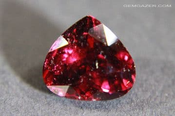 Colour-shift Malaia Garnet, red to purple-red, faceted, Tanzania. 3.01 carats.