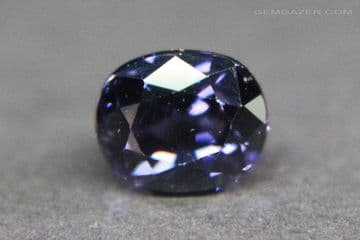 Colour-shift Spinel, faceted, Sri Lanka.  1.02 carats.