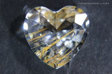 Colourless Topaz with Golden Limonite inclusions, Pakistan.  20.18 carats.