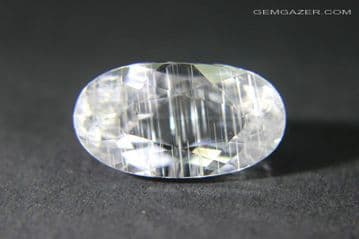Colourless Topaz with Growth Tube inclusions, faceted, Brazil.  7.88 carats. ** SOLD **