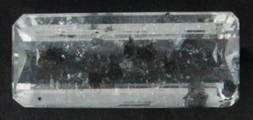 Colourless Topaz with rare Graphite inclusions, faceted, Brazil.   14.49 carats. ** SOLD **