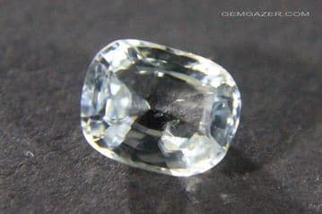 Colourless (White) Sapphire, faceted, Myanmar.  1.16 carats.