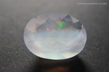 Contra- Luz Opal, Faceted, Mexico. 10.80 carats. (See Video)