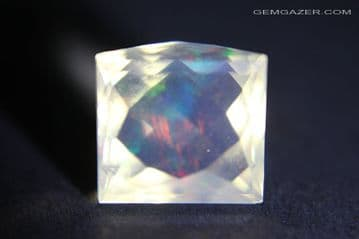 Contra- Luz Opal, facted cabochon, Mexico. 6.74 carats. (See Video)