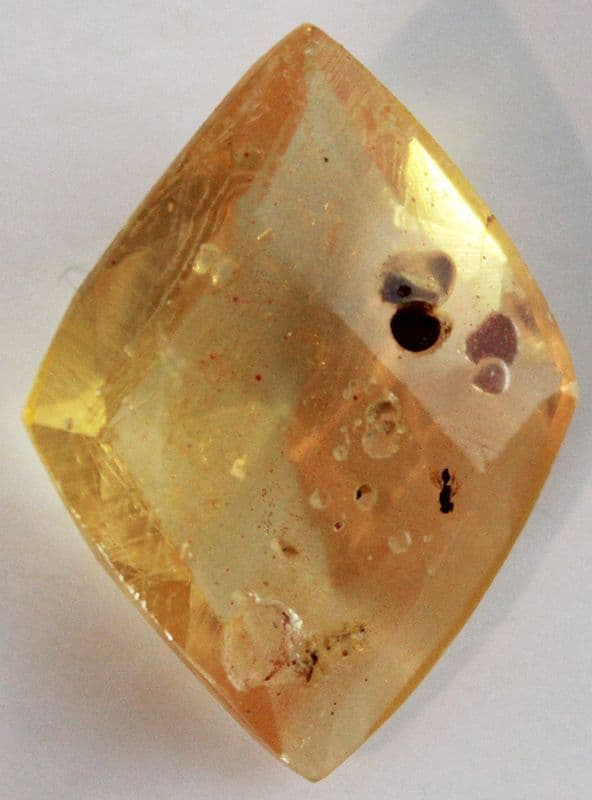 Copal Resin, faceted, Colombia.   5.53 carats.