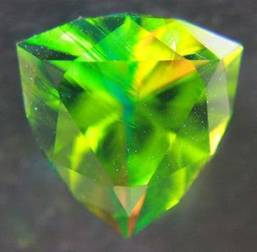 Cristinite synthetic silica, faceted. 15.60 carats.