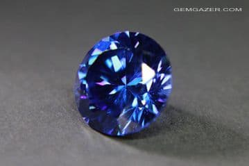 Cubic Zirconia, blue faceted. 11.19 carats.   ** SOLD **