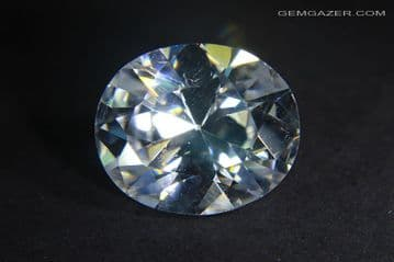 Cubic Zirconia, colourless faceted. 8.64 carats.