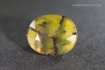 Dendritic Fire Opal, faceted, Madagascar.  4.92 carats.
