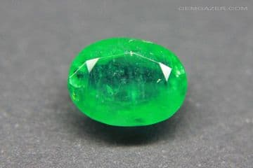 Emerald, faceted, Brazil. 1.73 carats.