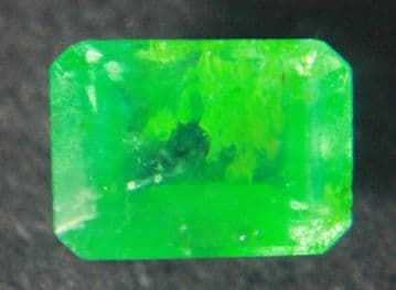 Emerald, faceted, Colombia 0.54 carat.