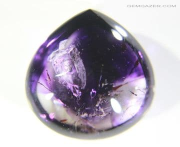 Enhydro Amethyst Quartz cabochon with moving bubble, Madagascar. 39.43 carats. (See Video)  * SOLD *