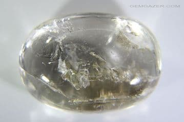 Enhydro Quartz cabochon with moving bubble, Madagascar. 34.23 carats (See Video).