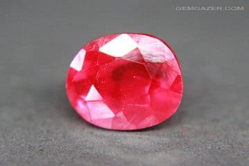 Flame Fusion (Verneuil method) Synthetic Ruby. 8.61 carats. ** SOLD **