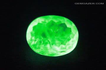 Fluorescent Hyalite Opal, faceted, Hungary. 2.15 carats. **SOLD **