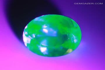 Fluorescent Hyalite Opal, faceted, Mexico. 8.65 carats.  ** SOLD **