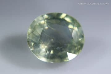 Green Sapphire, faceted, Tanzania. 4.65 carats.