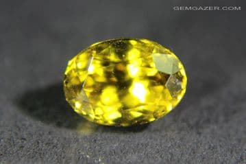 Grossular Garnet, yellow, faceted, Mali. 1.87 carats.  ** SOLD **