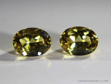 Heliodore Beryl, yellow faceted pair. Brazil.  2.77 carats total weight. ** SOLD **