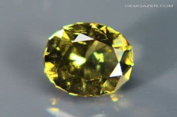 Heliodore Beryl, yellowish-green faceted, Brazil. 1.14 carats.