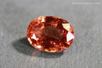 Hessonite Garnet, faceted, India. 1.16 carats.