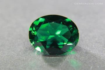 Hydrothermal synthetic Emerald, faceted, Russia. 2.13 carats.